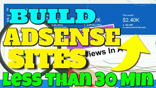 How To Build Viral Google Adsense Site in Less Than 30 Minutes & Loaded With Content-Adsense Engine