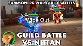 SUMMONERS WAR : Guild Battle vs Nittan (Feat Yaku & Leo-Aikido)