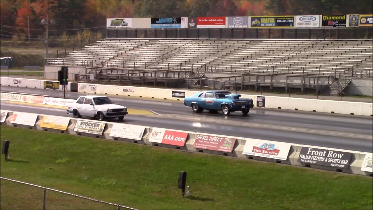 EPIC! Turbo Toyota Beats 9 Second Muscle Car - New England Dragway ...