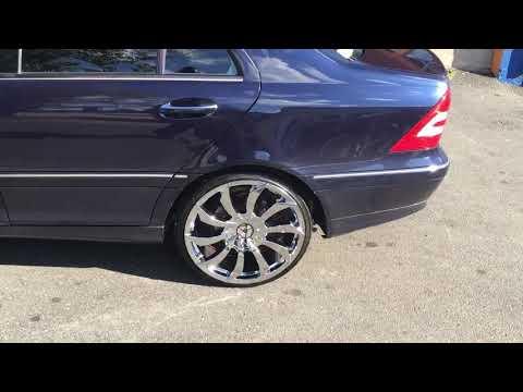 2003 Mercedes- benz sitting on Azara AZA-507 chrome wheels and 225/30-20 lexani tires