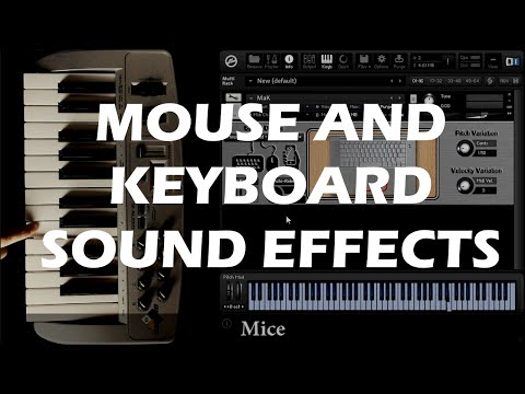 Mouse And Keyboard Sound Effects library