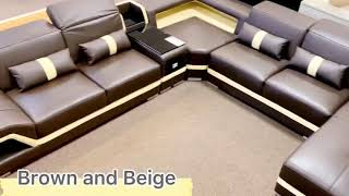 Modern Leather Sectional From Jubilee Furniture