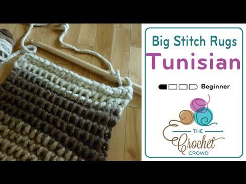 How To Tunisian Crochet: Rugs / Mats