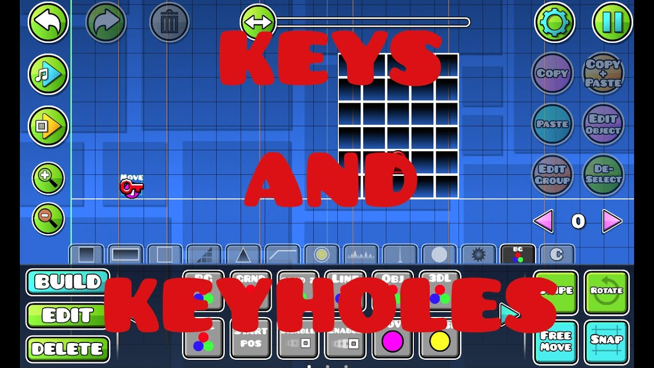 how to use keys and keyholes in geometry dash