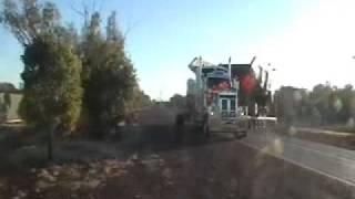 cqhh hauling 2 x cat 789c dumper trucks south bound