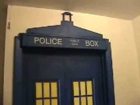 Dr Who Tardis painted door room mural YouTube