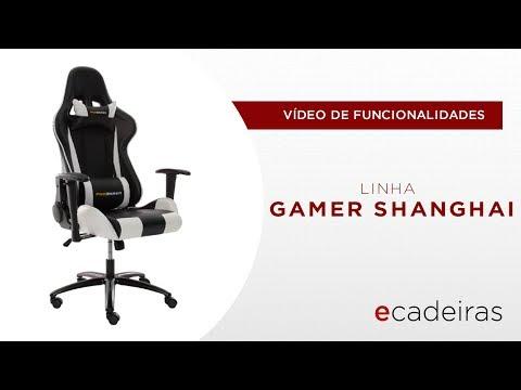 Cadeira Gamer Shanghai (Funcionalidades) | Ecadeiras