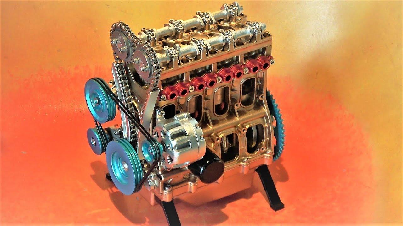 4気筒エンジン模型 - YouTube