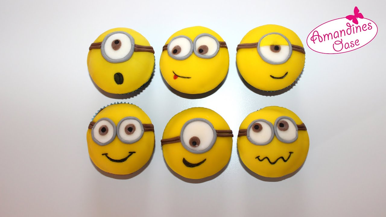 minion cupcakes cupcakes mit fondant eindecken. Black Bedroom Furniture Sets. Home Design Ideas