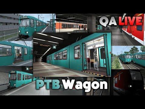 TS 2017 - PTB Wagon - Line U6 (Frankfurt): Praunheim to Ostbahnhof - QA LIVE