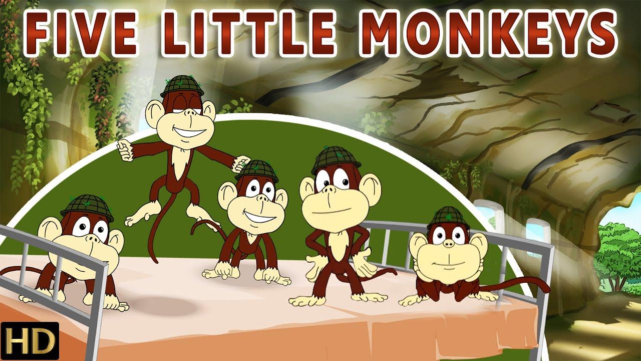 Five Little Monkeys (HD) | Popular Nursery Rhyme for Children | Shemaroo kids