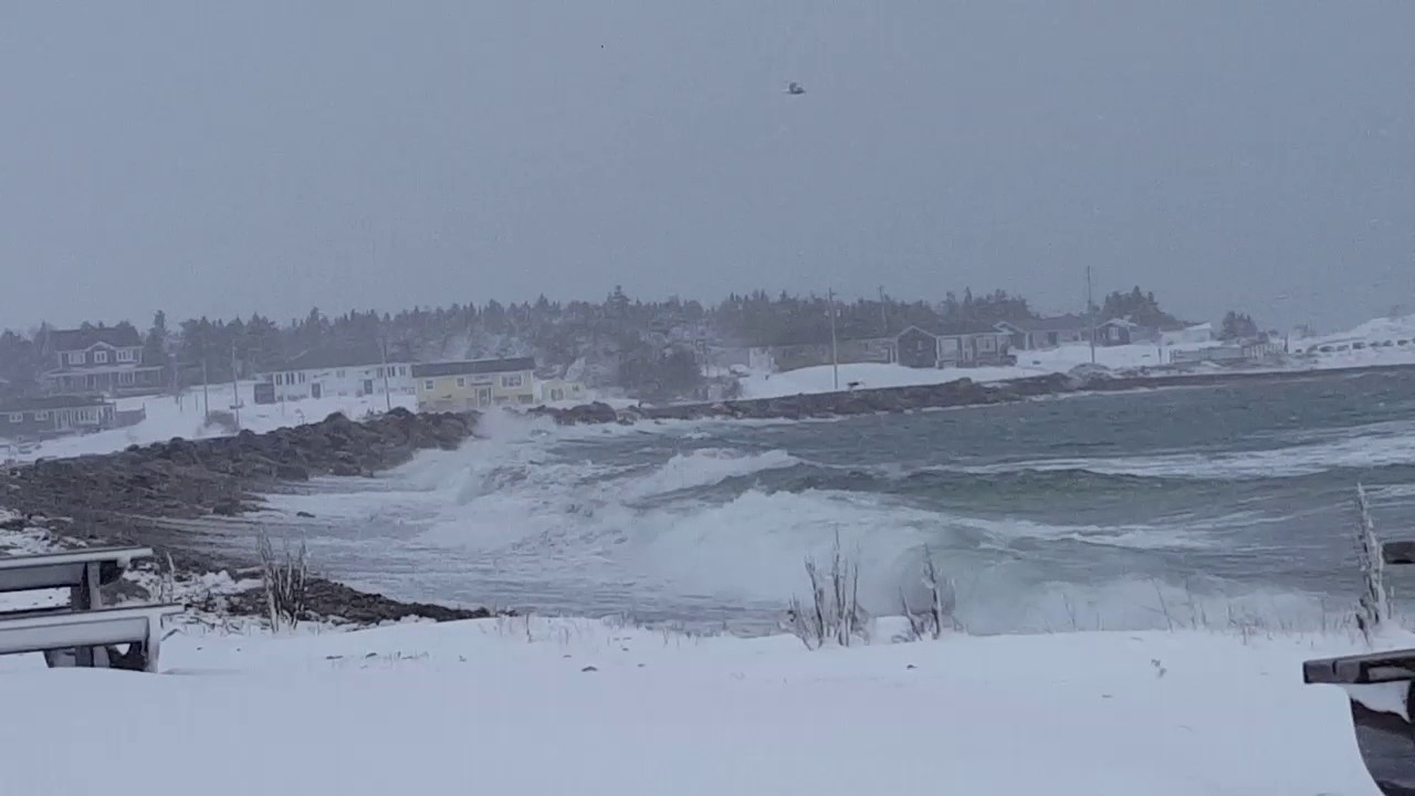 Stormy Seas In Conception Bay South Newfoundland February 15