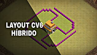CLASH OF CLANS LAYOUT CV6 /HÍBRIDO /PUSH /WAR