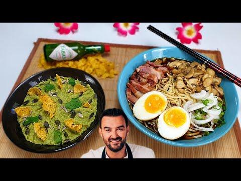 tous-en-cuisine-#47---le-guacamole-ÉpicÉ-et-le-bouillon-de-nouille,-oeuf-et-lard-de-cyril-lignac-!