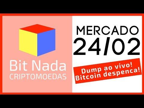 Mercado de Cripto! 24/02 QUEDA AO VIVO!! Bitcoin desmorona 400 dólares em minutos! / Fork ETH