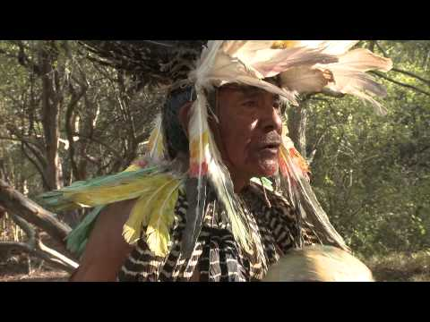 Shaman chant and ritual performed in the Chamacoco community, Paraguay