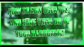 """How To Edit Your User Pictures - """"Change User Icons"""" - Jailbreak Only! (PS3)"""