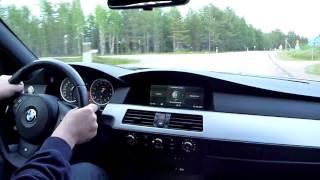 BMW M5 V10 on a twisty road