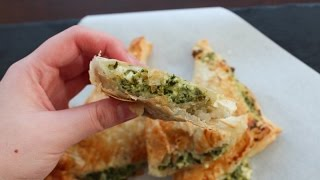 How To Make Puff Pastry With Feta Cheese And Spinach - By One Kitchen Episode 18