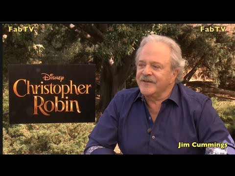 Jim Cummings the voices of Christopher Robin's Pooh & Tigger