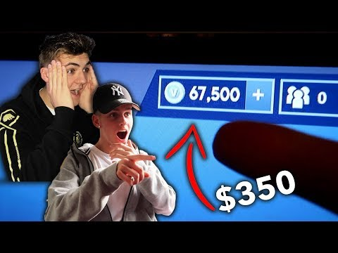 I Bought My Best Friend $350 Worth of V-Bucks! (HE FREAKED OUT)