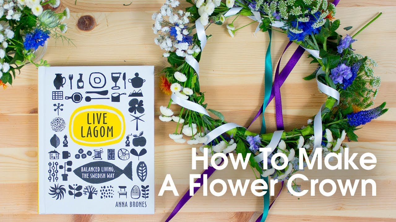 How to make a flower crown live lagom youtube how to make a flower crown live lagom dhlflorist Choice Image