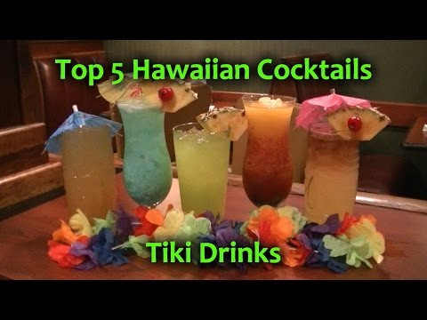 Top 5 Hawaiian Cocktails Best TIKI Drinks Polynesian Cocktail