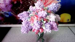 "3D Торт- Букет сирени "" Королева мая"" / 3D Cake - Bouquet SIRENIA ""Queen of may"""