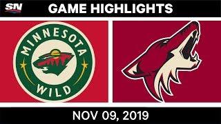 NHL Highlights   Wild vs. Coyotes – Nov. 9, 2019