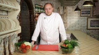 Свежая еда - Нарезка овощей и зелени: мастер-класс от шеф-повара