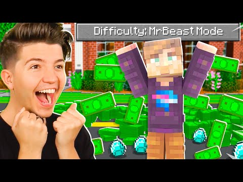 """So I Added a """"MrBeast Mode"""" difficulty to Minecraft..."""