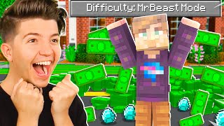 So I Added a &quotMrBeast Mode&quot difficulty to Minecraft...