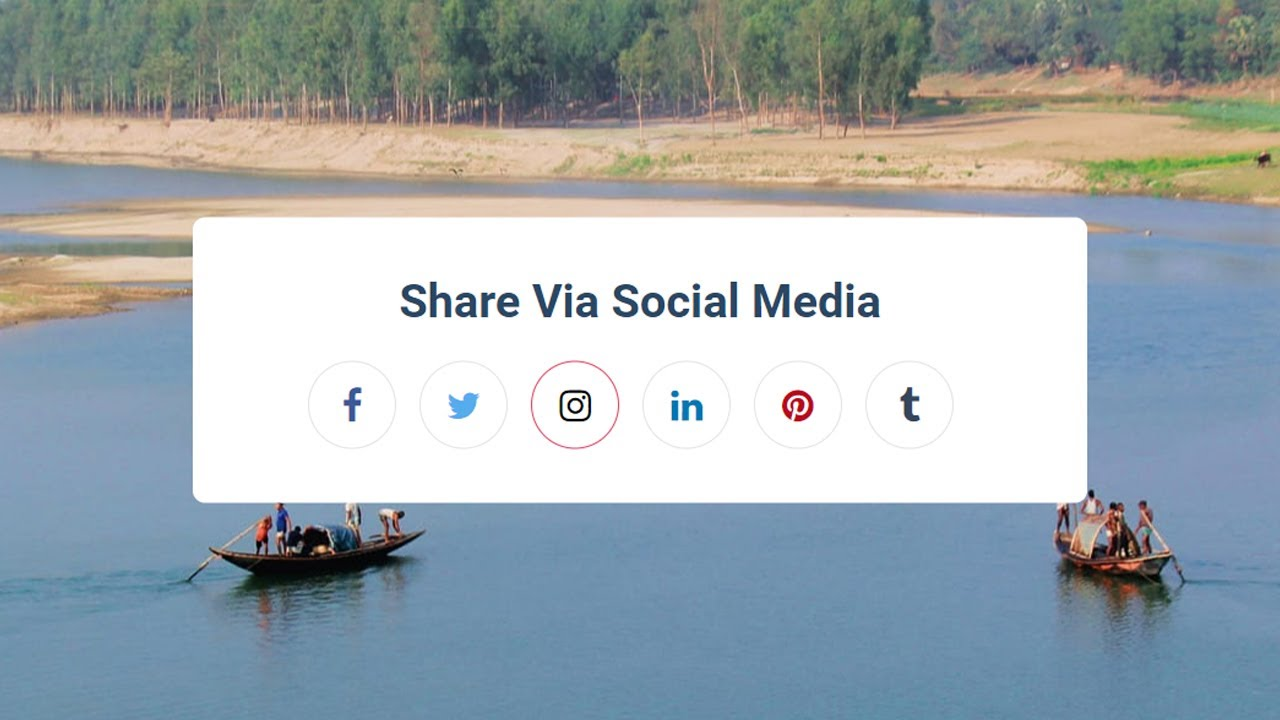 Make Awesome Social Share Buttons in HTML And CSS | HTML Tutorial | CSS Tutorial