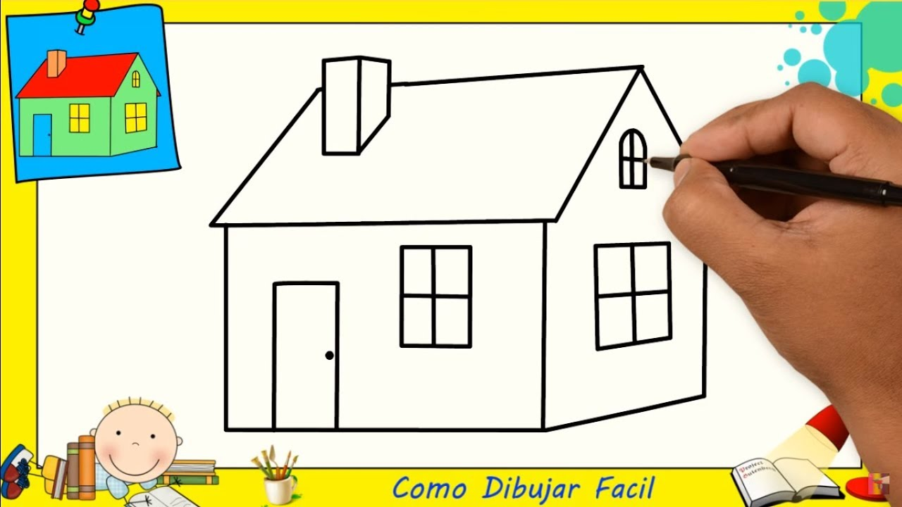 Dibujos De Casas Faciles Paso A Paso Para Niños Como Dibujar Una Casa Facil 1