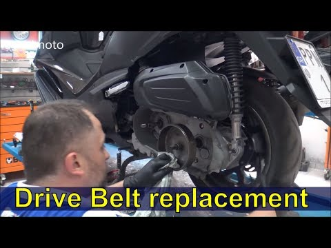 Drive Belt Replacement On A Scooter SYM CruiSym 300cc