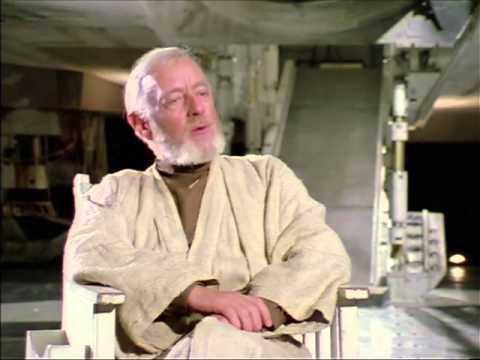 Alec Guiness on Obi-Wan Kenobi (Star Wars 1977)