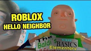 BALDI EXE Full Game - ROBLOX HELLO NEIGHBOR