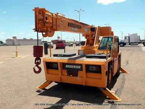 593 2004 Broderson IC80 3G 8.5t Carry Deck Crane
