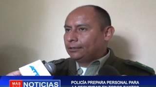 POLICÍA PREPARA PERSONAL PARA SEGURIDAD EN TODOS SANTOS