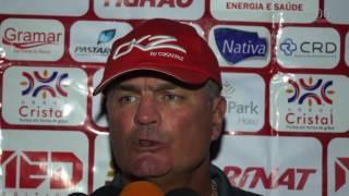 Confira a coletiva do técnico Mazola Junior do Vila Nova após a vitória diante da Aparecidense