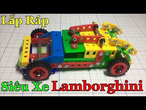 Hướng dẫn lắp ráp Siêu Xe Lamborghini ( How To Assemble A Toy Lamborghini supercar )   Tiến Crazy