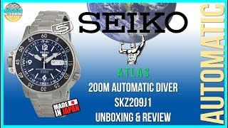 Throwback Review! | Seiko 5 Atlas 200m Automatic Field/Diver SKZ209J1 | SKZ211K1 Unbox & Review