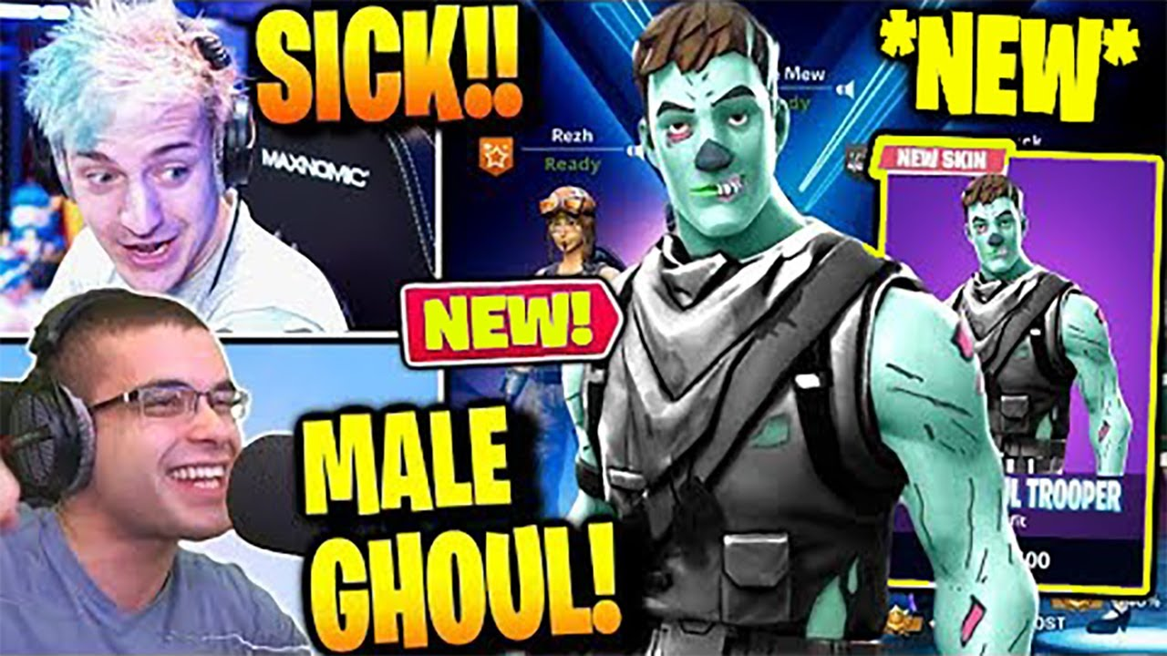 Streamers React To NEW MALE GHOUL TROOPER Fortnite Battle ...