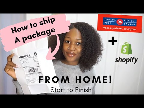 PRINT SHOPIFY SHIPPING LABEL TO FULFILL ORDER WITH CANADA POST | ENTREPRENEUR LIFE Pt.11 |Chinyere I