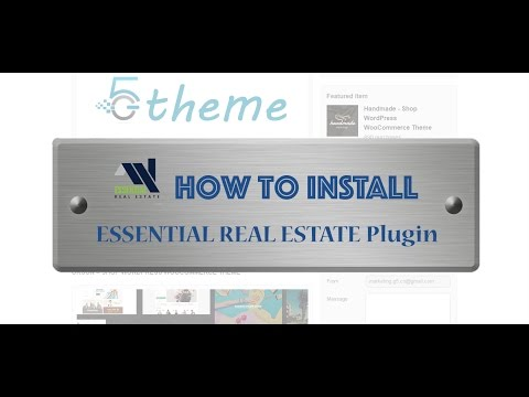 How to Install Essential Real Estate plugin