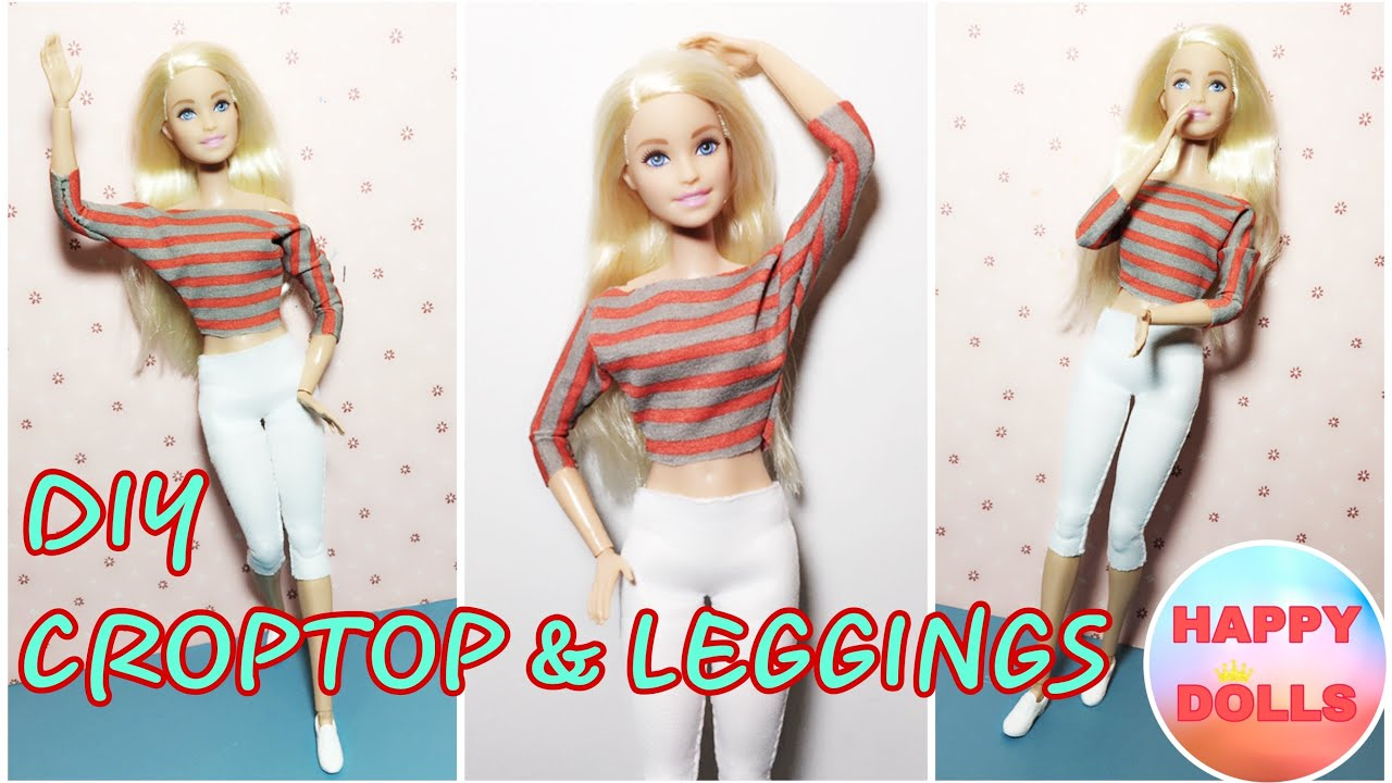 Blouse and Leggings for Dolls. №098 Clothes for Curvy Barbie Doll