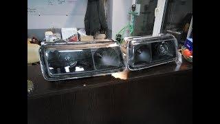 Установка линз и прозрачных стекол на passat b4