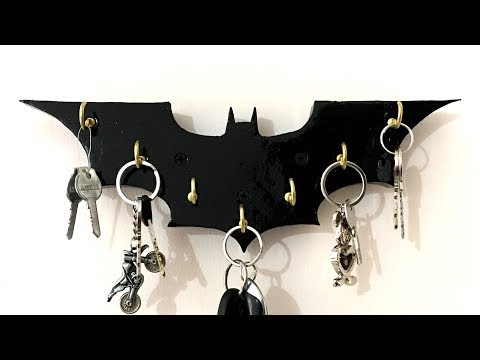 How to Make a Wooden Batman Key Holder - DIY Woodworking Project #2