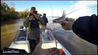 Рыбалка с лодки на речке ПАРАНА