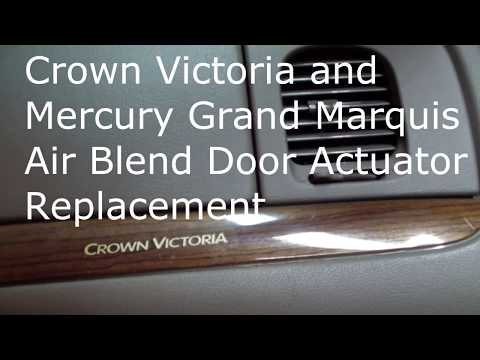 Crown Victoria Air Blend Door Actuator Replacement Youtube